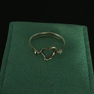 Tiffany & Co open heart ring - size 6
